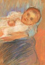 Madeleine CARPENTIER, Bébé, maternité, dessin, pastel, France, impressionnisme