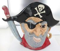 HUGE / VINTAGE PIRATE CHARACTER JUG. NO MAKERS MARK.
