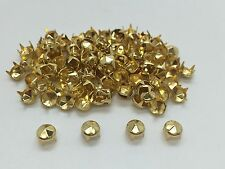 500pcs Fashion Punk Rivet Studs DIY Craft Spike Bag belt Gold Leather Craft