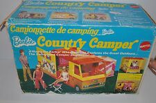 BARBIE Country CAMPER vintage Vehicle 1970s w/ BOX English & French Mattel- rj