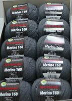 10x Wolle Austermann aus 100 %  Schurwolle BRANDNEU Merino 160 NEU 50 g  GRAU234