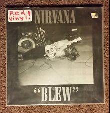 "NIRVANA ""BLEW""  RED VINYL"