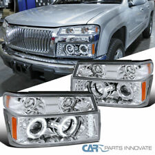 For 04-12 Colorado Canyon Clear Halo LED Projector Headlights+Corner Signal Pair