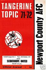 NEWPORT COUNTY  V  SCUNTHORPE UTD  4TH DIVISION   19/10/71