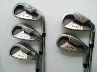 Set of 5 Wilson X-31 Low C/G Irons 5-9 - Stepped Steel Shafts - Nice Grips - RH