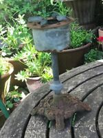 Unusual Victorian Gas Lamp Burner Stove? Cast Iron Base
