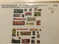 N scale Signs weathered new