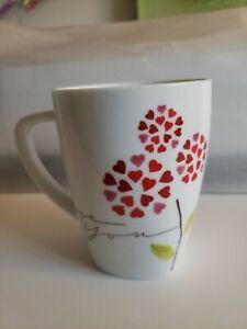 2007 Starbucks I Love You Red Hearts Mug 12oz NEW