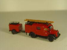 Mercedes Feuerwehr m. Anhänger - Roco  HO 1:87 Modell - #316   #E - gebr.