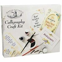 House Of Crafts Calligraphy Craft Kit Creative Writing Gift Set Nibs Pen Ink Pad