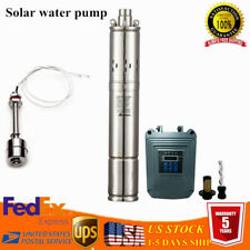 1000w Solar Water Pump Deep Well Submersible Pump Farm Stainless Steel 23m3h