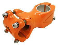 Potencia Ahead Aluminio Color NARANJA Angulo 7º 25.4 60mm Bicicleta FIXIE 3506na