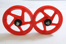 """TWO FRONT 12""""MAG WHEELS FOR 12"""" PUMP UP TYRES,SCOOTERS & SPECIAL PROJECTS RED"""