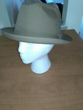 Vintage Men's Tan BAILEY Fedora ~ Size 7-1/2 ~ Made in USA