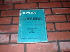 TOYOTA CRESSIDA CHASSIS & BODY WORKSHOP MANUAL. 1980