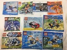 LEGO polybag lot x10 - Star Wars, Chima, City, Galaxy Squad, Creator - NEW!