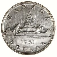 Raw 1951 Canada $1 Uncertified Ungraded Canadian Silver Dollar Coin