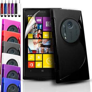 Silicone Gel Case Cover Pouch For Nokia Lumia 1020/EOS/909 & Screen Protector