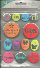 Colorbok Cheer Chipboard Embellishment Stickers 13pc
