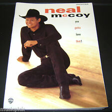NEAL McCoy You gotta love that! Song Tab book NOS Piano Vocal Chords Guitar