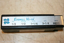 OSG EXOMILL Vc-10 HIGH-SPEED STEEL SUPER HI-HELIX REGULAR LENGTH MULTI END MILL