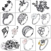 Female Silver Ring Zircon Flower Design Beautiful 925 Jewelry New Wedding Gifts