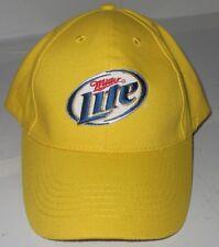 Miller Lite Beer Yellow Baseball Cap Trucker Hat One Size Adjustable NICE Promo
