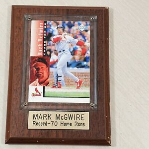 Mark McGwire Home Run #70 1998 Trading Card Plaque. Chase For 62 Upper Deck