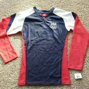 Team USA Apparel Long Sleeve Shirt Youth Size Large (14) NWT New Olympics