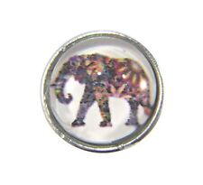 Noosa Style Chunks Mini Snap Button Charms Earrings Ginger Snaps Elephant 12mm