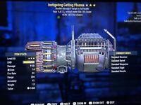 Fallout 76 PS4 Instigating Gatling Plasma VATS 33%