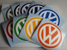 VW Badge Logo Van Beetle Transporter Camping-Car Autocollant Voiture 110 MM COULEUR/blanc