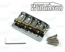 Wilkinson 4 string Bass bridge vintage style WBBC4, brass saddle, chrome