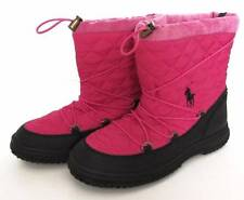 Ralph Lauren Junior Girls Preppy Pink Orao Quilted Winter Boots (5) NWOB