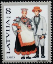 Traditional costumes stamp, Barta, Latvia, 1996, SG ref: 442, 1 stamp, MNH
