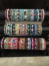🇺🇸😀USA 50 SET Nepal Rolls Glass Bead Bracelet crochet handmade bangle Random