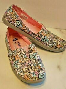 Lil BOBS for Dogs size 4 shoe sneakers slip-on Kids Children Skechers multicolor