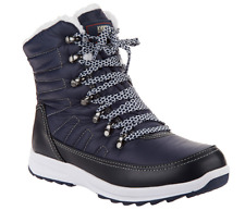 Khombu Waterproof Lace-up Ankle Boots - Alegra Navy Blue Women's Size 7.5 New