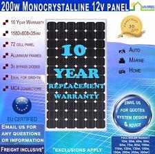 200 Watt 12 Volt Solar Panel Mono -  Freight Inclusive!* 200W 12V