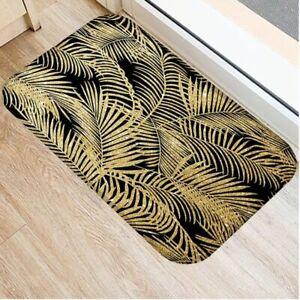 Golden Door Mat 40x60 cm Coral Velvet Carpet Rubber Colorful Indoor Floor Mats