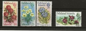 Falkland Islands 1968 Flowers 1s6d, 2s, 3s, 5s, 4 values, used (SG 241/4) c£45