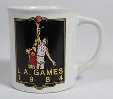 LOS ANGELES SUMMER OLYMPICS 1984 GAMES MUG Basketball Sports USA China Cup Glass