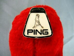 Vintage Ping Karsten red plush head cover Looks unused