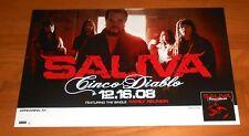 Saliva Cinco Diablo Poster 2-Sided Original 2008 Tour Promo 17x11