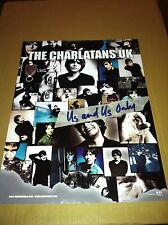THE CHARLATANS UK u.k. 1999 PROMO POSTER for Us and Us Only CD made in USA