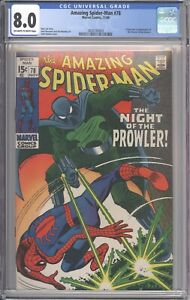 Amazing Spider-Man #78 CGC 8.0 - 1st Prowler (Origin) - John Romita Sr. Cover