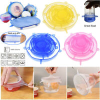 12Pcs Universal Silicone Stretch Suction Pot Lids Kitchen Cover Pan Bowl Stopper