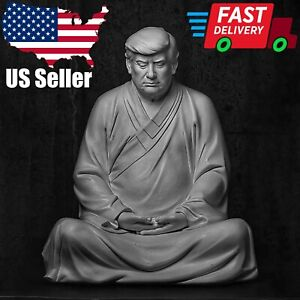 Buddha Statue Of Donald Trump Make Your Company Business Great Again Ornament US