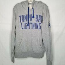47 Brand Tampa Bay Lightning Hoodie Sweatshirt NHL Hockey Grey Large