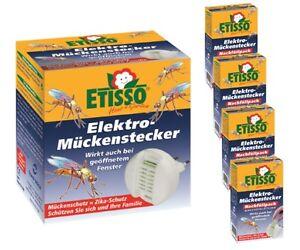 Sparset Etisso Elektro Mückenstecker 1+4 Mückenschutz Mückenabwehr